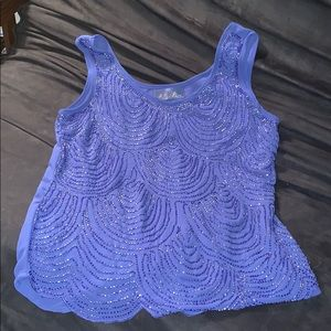 Exquisitely beaded tank top by Blue Rain (like M)